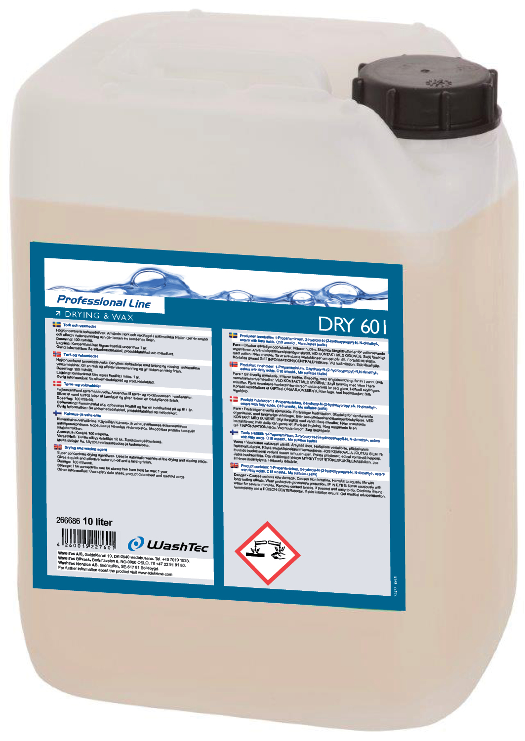 DRY 601 - Drying and Wax 10 L