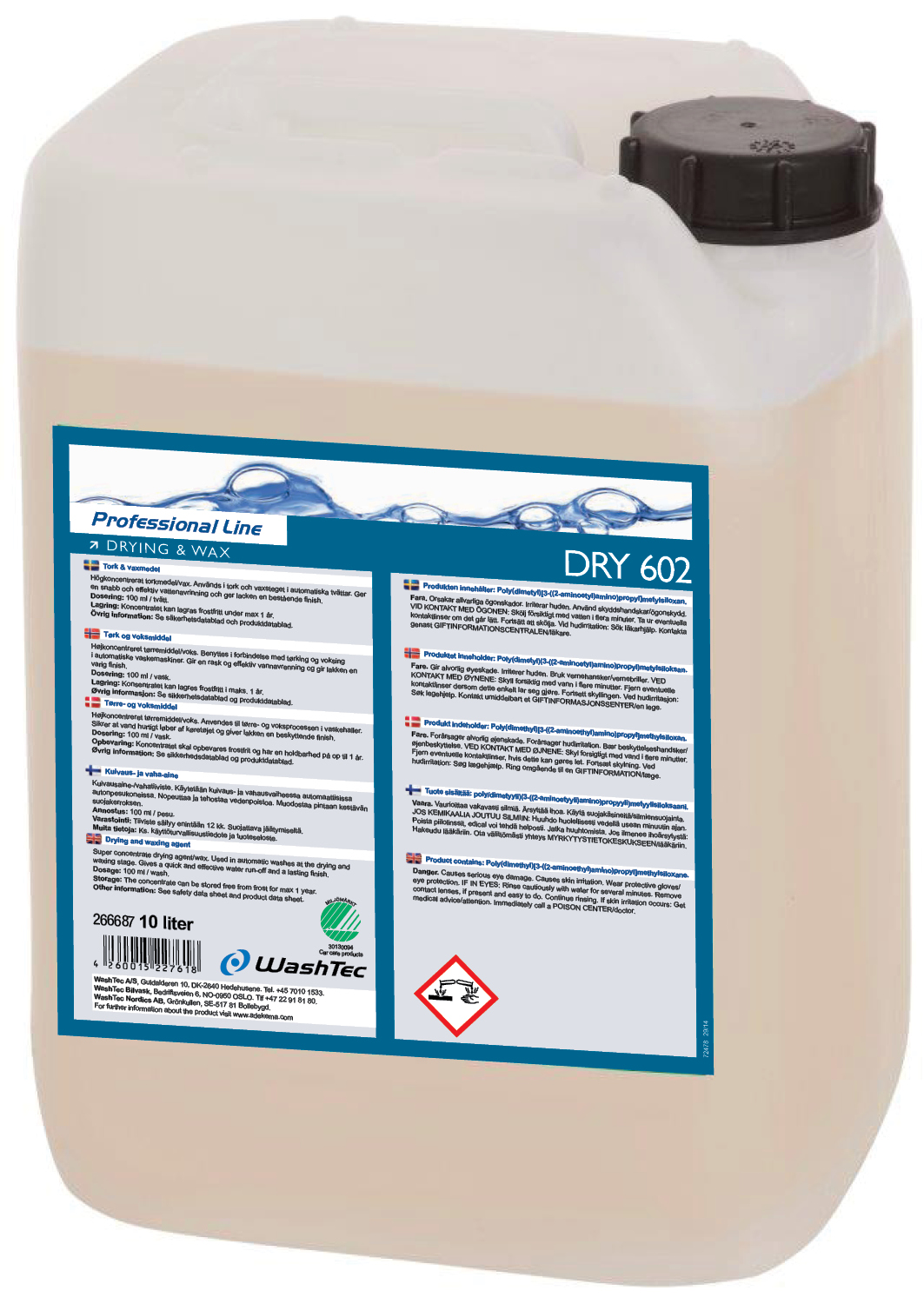 DRY 602 - Drying and Wax 10 L