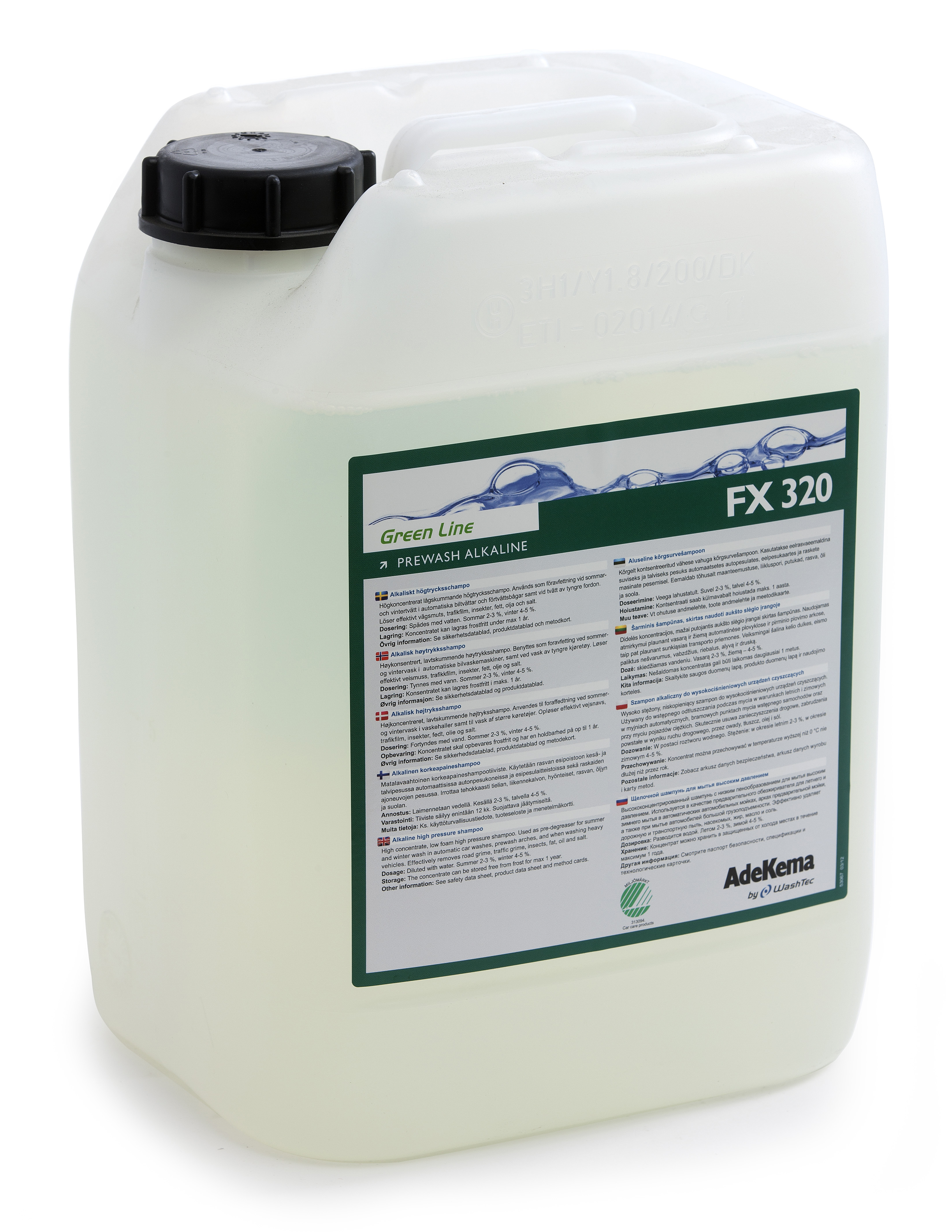 FX 320 Prewash Alkaline Gr10 L
