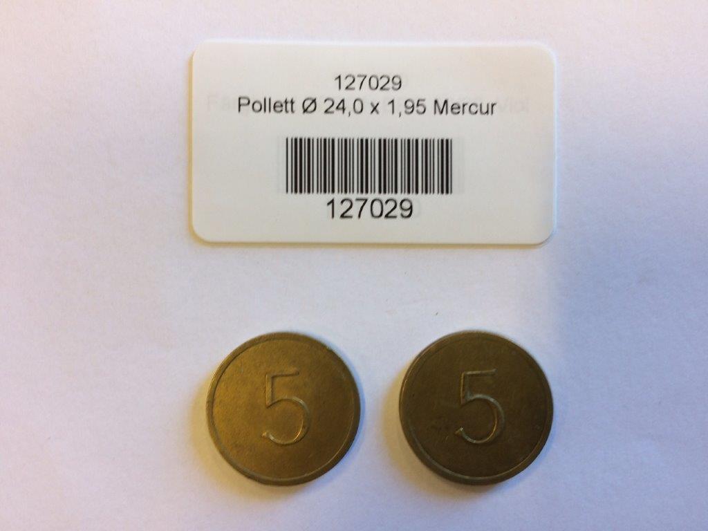 """Pollett Ø 24,0 x 1,95 Mercur """"5:an"""""""
