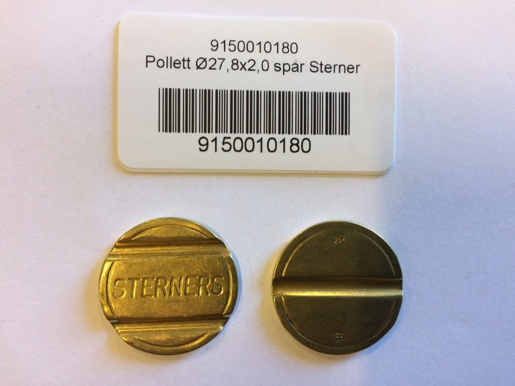 Pollett Ø27,8x2,0 spår Sterner