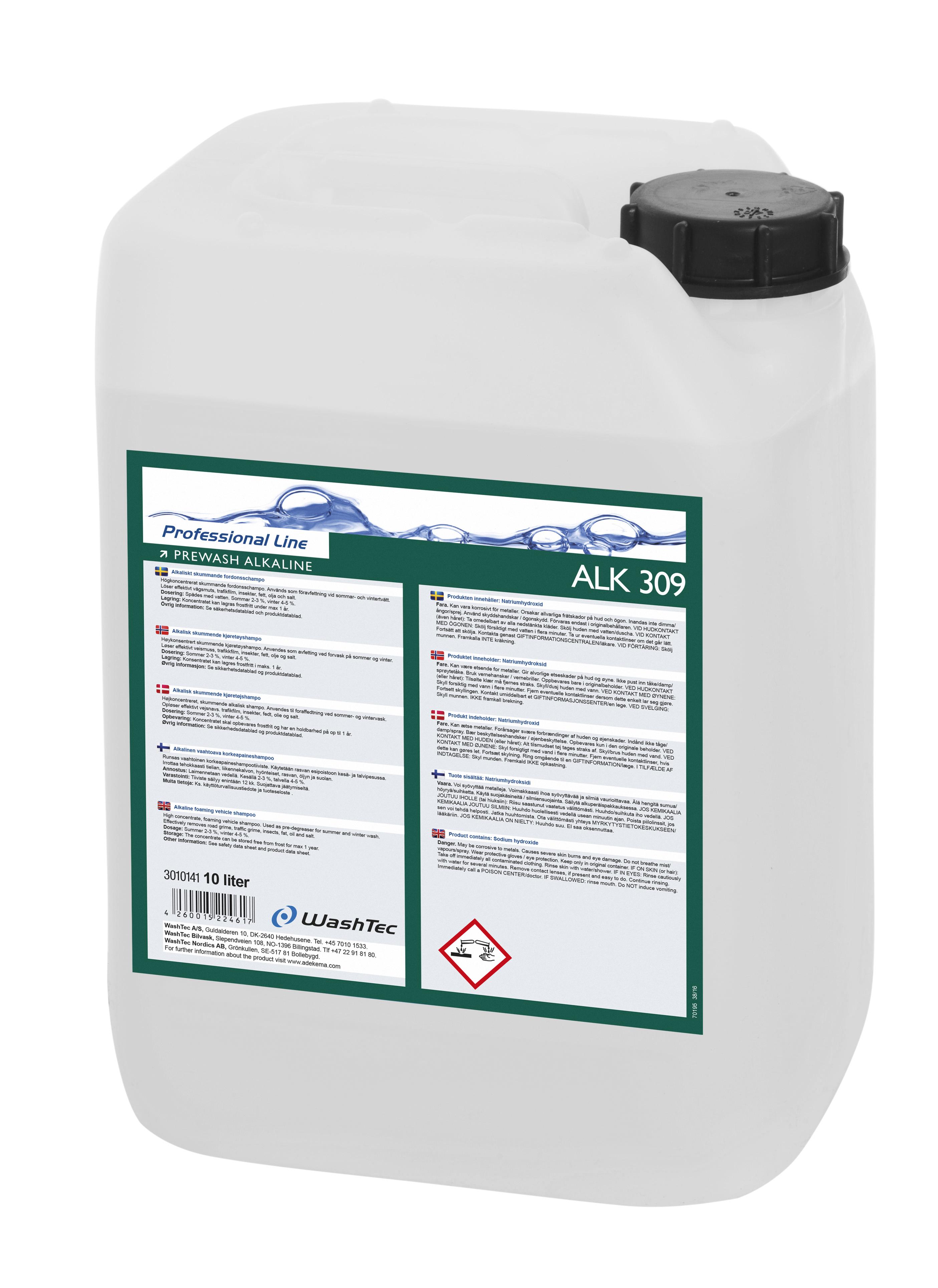 ALK 309 - Prewash Alkaline,10L